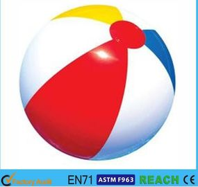 China Rainbow Inflatable Beach Ball 6 Panels Type Phthalate Free PVC Vinyl Material supplier
