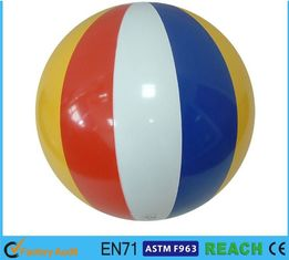 "China 16"" Dia Giant Beach Ball,Rainbow Colored Plastic Beach Balls For Swimming Pools supplier"