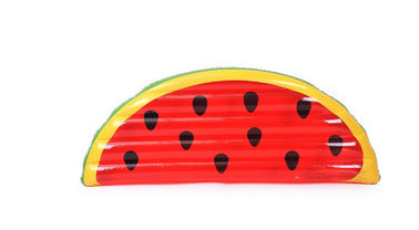 China Watermelon Inflatable Pool Floats Tear Resistant 180x90x18cm Dimension Mattress supplier