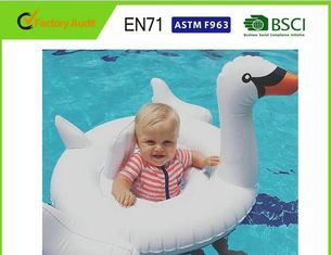 "China Customised Size Black/White/Gold Swan Inflatable Pool Float 70""x32"" Water Toys supplier"