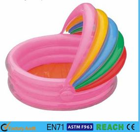 China Rainbow Canopy Inflatable Swimming Pool Durable 0.2mm Material For Infants Toys supplier