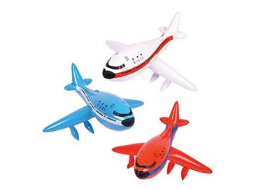 China Silk Screen Print Pool Toys,Easy Grip Handles Inflatable Airplane Model Toys supplier