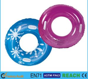 China PVC Vinyl 30 Inch Inflatable Swim Ring Recreation Lively Printed UV Protection supplier