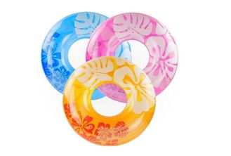 China Light Weight Inflatable Swim Ring Lively Printing With Regular Production Size supplier