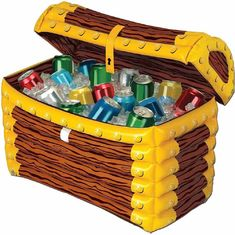 China 24*17 Inch Inflatable Drinks Cooler Treasure Box 0.25mm Thickness Material supplier