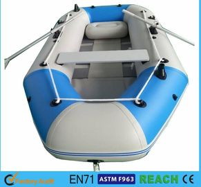 China 10.8 Ft Portable Inflatable Float Boat Aluminum Floor With 4 Individual Air Chambers supplier