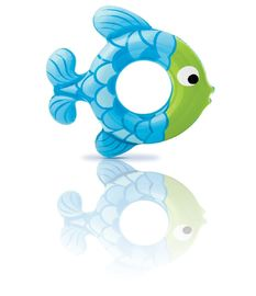 "China Fish Shaped Inflatable Swim Ring 30.5''X30"" Size Logo Custom Printing supplier"