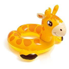 China Cartoon Animal Baby Swimming Ring , Swimming Pool Inner Tubes 0.25mm Thickness supplier