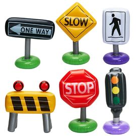 China Outdoor or Indoor Inflatable Kids Float , 6-pc Incredible Inflatable Traffic Signs supplier