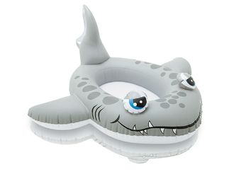 China Blow Up Kiddie Pool , Cruiser Shark Inflatable PVC Pool Float For Ages 3 - 6 supplier