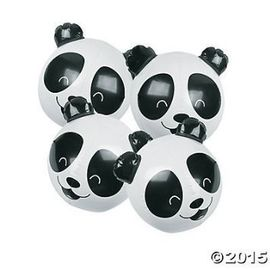 China PVC Panda Bear Beach Party Inflatable 11 Inch Beach Ball For Kids CPSIA supplier