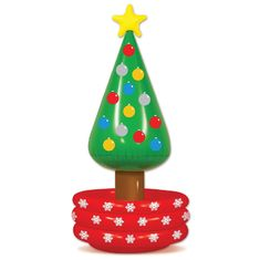 China 56 Inch Durable Inflatable Floating Beverage Coolers Multi Colored Christmas Tree supplier