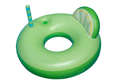 China Margarita Swimming Pool Inflatable Swim Ring With Drink Holder Eco Friendly supplier