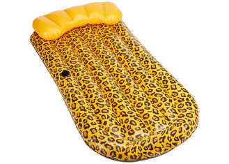 China Swimming Inflatable Wild Cheetah Mat With Custom Logo / Blow Up Water Mattress supplier