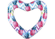 Colorful Durable Thick PVC Inflatable Swim Ring / Heart Pool Tube Floats