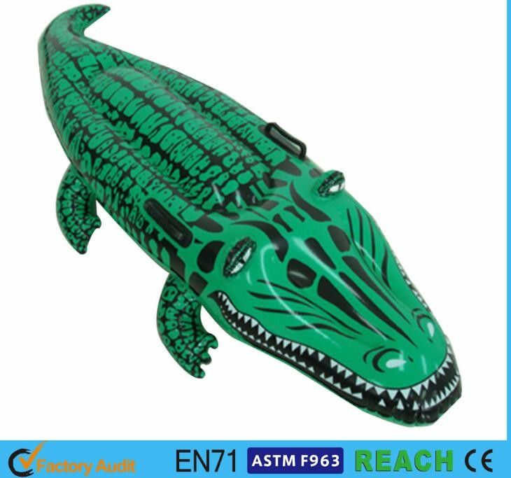 China Realistic Inflatable Pool Floats Advertising PVC Film Alligator Pool  Float Supplier