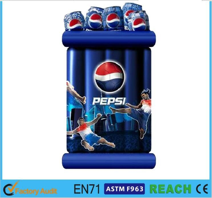 China Pepsi Floating Beverage Coolers Inflatable Drinks Cooler Eco Friendly  PVC For Party Supplier