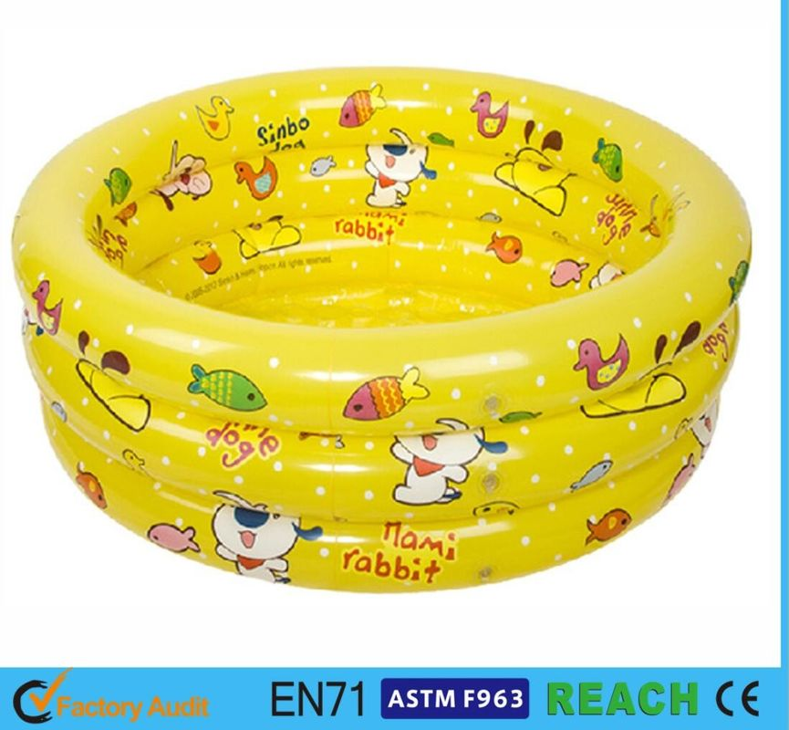China Splendid Printed Inflatable Swimming Pool 0.2mm Thickness Material Swim  Tube Supplier