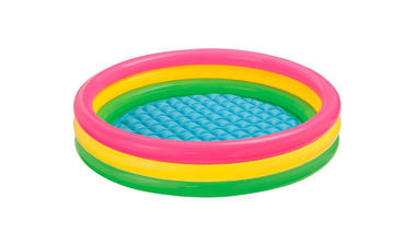 China Multi Colors Inflatable Swimming Pool Rainbow Design 0.2mm Thickness PVC Vinyl factory