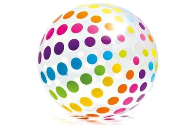 "Jumbo Inflatable Beach Ball 42"" Large Diameter Crystal Clear-Translucent Dots"