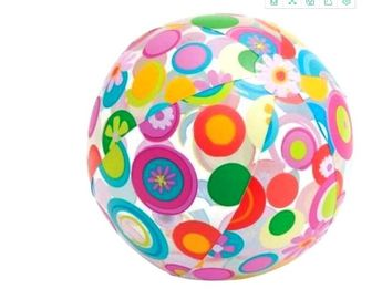 24 Inch Inflatable Beach Ball Splashy Flower Design Lively Print Fun Party Toys