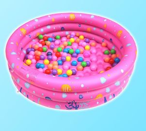 China Dots Printed Inflatable Park Pools , Blow Up Swimming Pools With 3 Rings Circle factory