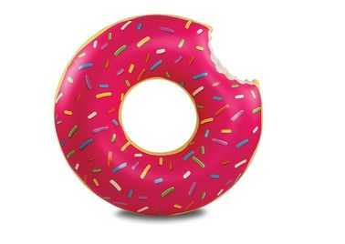 Multi-color Giant Pool Float , Donut Inflatable Swim Ring OEM ODM Highly Welcome
