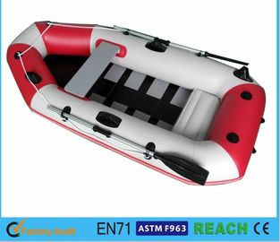 China White And Red Inflatable Float Boat PVC Drift Boat Inflatable Fishing Boat distributor