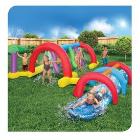 China Inflatable Water Pool Slides / Backyard Adventure Water Park Slide Sprinklers distributor