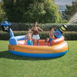 China Pirates Kids Water Cannon Inflatable Swimming Pool With Custom Logo distributor