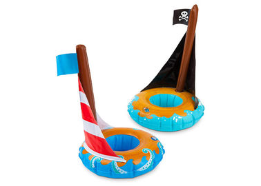 China Inflatable Boat Drink Holder Float , Pirate Ship Floating Drink Holder distributor