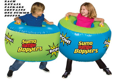 China Soft Safe Inflatable Kids Toys , Adults Battle Game Inflatable Sumo Bumper Boppers distributor