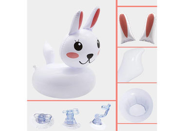 China Cute Rabbit Plastic Inflatable Drink Holder Cup Coaster For Kids Toys / Party Decorations distributor