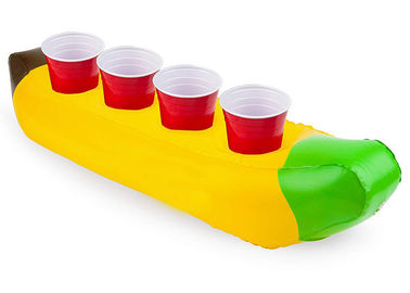 China Custom Inflatable Drink Holder , Banana Boat Multi Drinks Floating Can Holder distributor