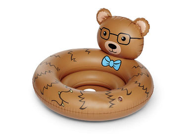China Custom Beary Cute Inflatable Swimming Pool Float Raft Chair / Baby Swim Toys distributor